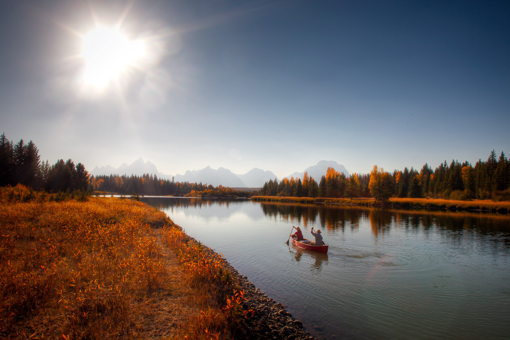 canoe, Teton National Park