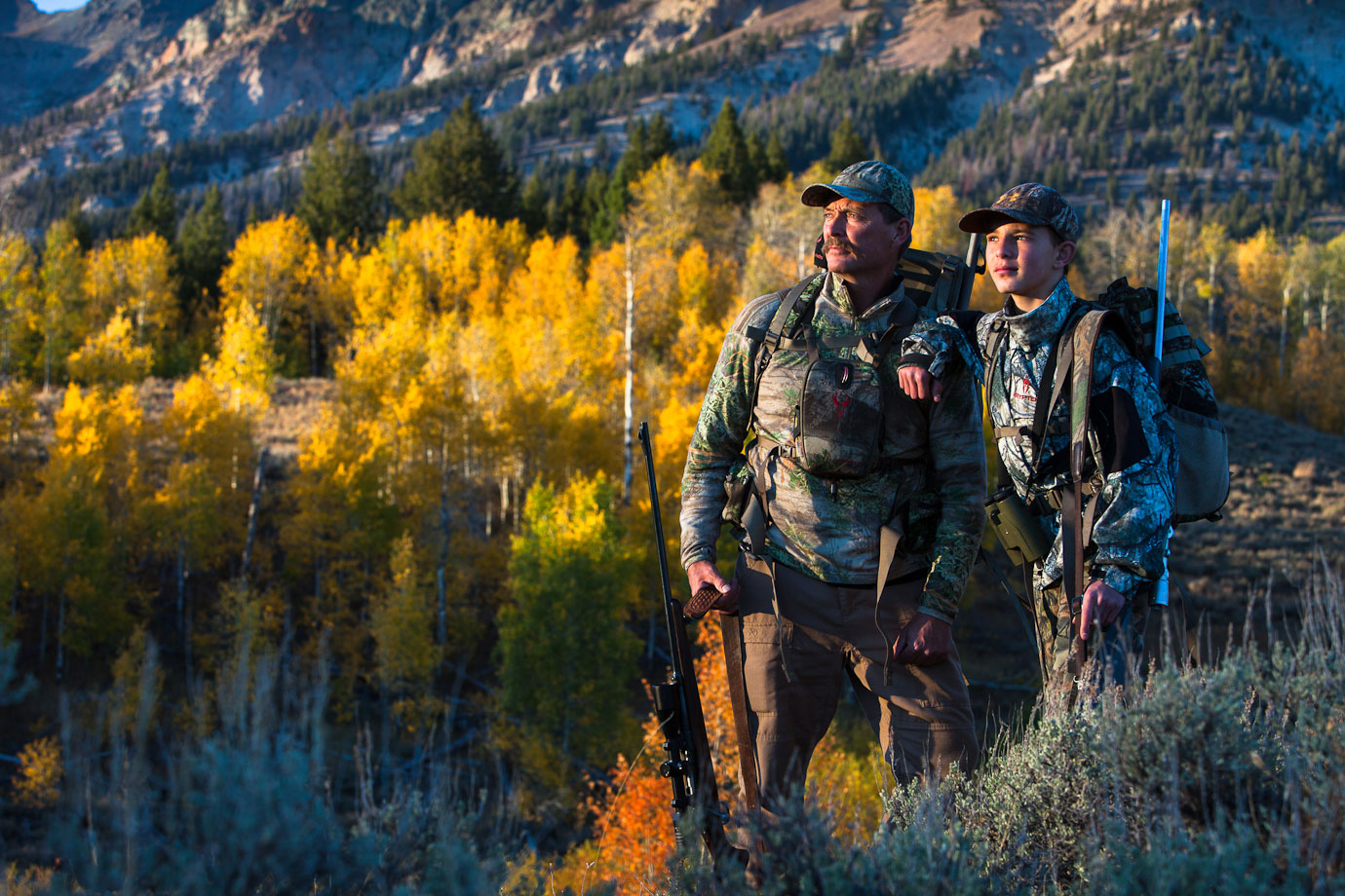 father and son hunters, Idaho.jpg